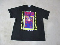 The Beatles Concert Shirt Adult Large Black Yellow Band Rock N Roll Tour Music *