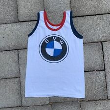 Vtg 70s 80s 90s Bmw Ringer Tank Top Tee Shirt Single Stitch Size S