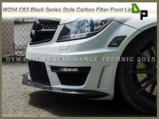 Carbon Fiber Front Bumper Lip For 2012-2014 Merecedes-Benz W204 C63AMG 2Dr/4Dr