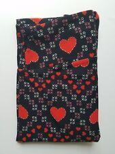 Lularoe Heart XO Chevron Zig Zag TC Leggings on Black Background NEW!