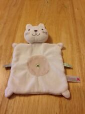 Nicotoy White Bunny Comforter  Blanket Soft Toy Soother Doudou