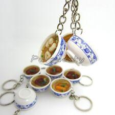 1Pc Mini Flower Bowl Noodle Delicious Food Cell Phone Charm Bag Strap Pendant