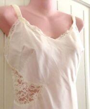 Vintage Barbizon Full Contura Slip White Floral Lace Size 20 Bust 40