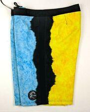 O'Neill Men's Stretch Board Short Swimwear - Blue Yellow Black - Size 34