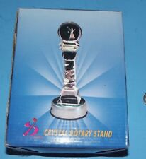 Crystal Glass Laser LED Electric Light Up Stand Base Works w Box  3D
