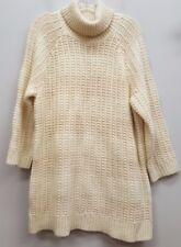 LAUREN RALPH LAUREN 1X Cream Ivory White Chunky Knit Cozy Turtleneck Sweater