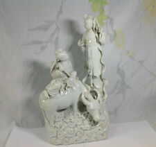 Chinese Qing Dynasty Dehua Figure Of Xi Wangmu And Attendant
