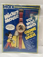 VINTAGE MICKEY MOUSE 1970'S MARX TOY WATCH RARE & BRAND NEW IN PACKAGE