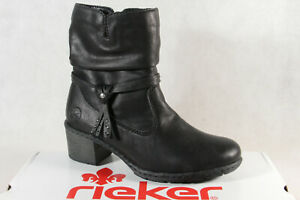 Rieker Women's Boots Ankle Boot Black Y8850 New