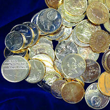 AMAZING LOT $55  40 GOLD CLAD WORLD COINS FOREIGN COIN RESELLERS  MAKE $$