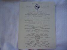 Furness Bermuda Line Queen of Bermuda Lunch Menu September 19, 1937