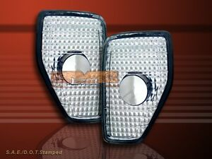 06 07 08 09 10 HUMMER H3 FRONT CLEAR SIDE MARKER LIGHTS