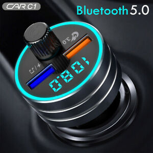Wireless bluetooth FM Transmitter Car Charger 3.0 Quick Charge 2 USB Mp3 Player