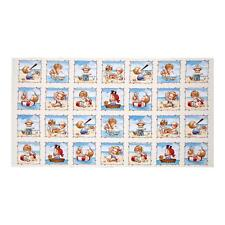Beach Kids Cream by Ami Morehead Cotton Quilting Fabric Panel