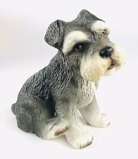 1986 Global Art Harvey Knox Kingdom Hand Painted Schnauzer Pup Mint Condition
