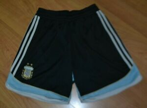Argentina National Team Football Soccer Shorts Adidas Clima Cool Youth Large AFA