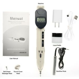 Rechargeable Digital Auto Search Points Acupuncture Pen Pain Relief + 3 Probe CE
