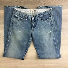 Paige Hollywood Hills Bootcut Destroyed Women's Jeans Size 30 NWOT Fit W32 (T11)