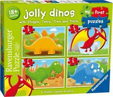 Ravensburger JOLLY DINOS MY FIRST JIGSAW PUZZLES (2,3,4,5PC) Toys Games BN