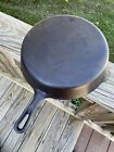 Griswold Cast Iron Small Logo Flat Bottom Skillet # 10 P/N 716E Clean & Seasoned