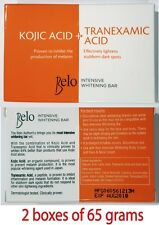 2 bxs of 65 grams Belo Intensive Whitening Bar Kojic Acid + Tranexamic Acid Soap