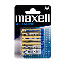 Maxell AA Alkaline Battery Pack of 4