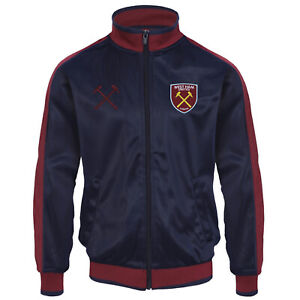 West Ham United Mens Jacket Track Top Retro OFFICIAL Football Gift