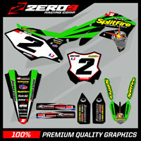 Custom MX Graphics Kit: KAWASAKI KX 65 / KLX 110 2000 - 2020 - SPLITFIRE GREEN