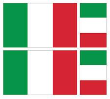 4 X italiano Italia Bandera Pegatina de vinilo coche furgoneta Ipad Laptop