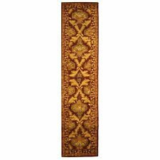 Hand-Tufted Antiquity WINE / GOLD Wool Rug 2' 3 x 12' Runner