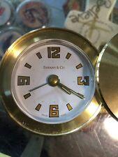 Tiffany & Co Round Swivel Top Desk Travel Clock