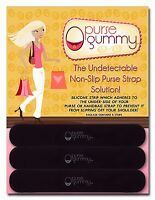 Purse Gummy® Keep your Bag Secure & Germ-Free - 6 PIECE GRIPS STRIPS BLACK