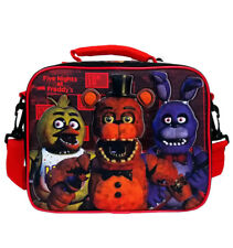 Five Nights at Freddys Lunch Bag Box FNAF Video Game Character Lunchbox for Kids