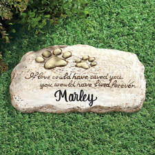 Personalized Dog Cat Paw Print Pet Memorial Cemetery Grave Marker Tomb Stone