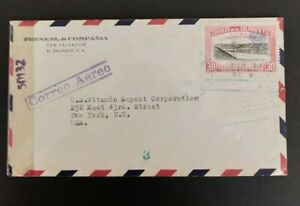 10 El Salvador WWII censored covers to the USA