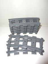 Lego City - 8x Kurve - RC Schienen - Eisenbahn - 60052 10233 3677 7938 7939