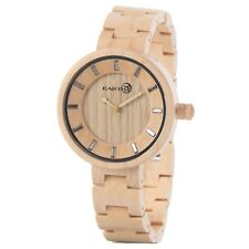NEW EARTH WOOD UNISEX ROOT ANALOG WATCH NATURAL