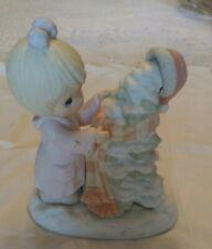 Precious Moments Porcelain Figurine- Have A Cozy Country Christmas 1998