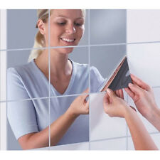 16pcs Mirrors Mosaic Tiles Self Adhesive Wall Stickers Decoration Square HOT