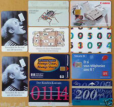 10 Vintage EUROPE Picture Phone Cards 1989 & 1996 Belgium Germany France Holland