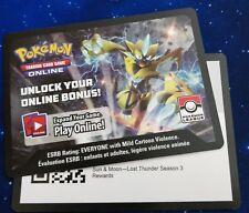 Pokemon:Lost Thunder Season 3 - 4X Naganadel + Sleeves 1X PTCGO Code ON HAND
