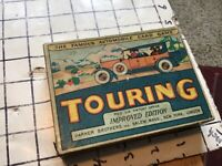 original Parker Bros. TOURING automobile card game -- improved ed. - 1926