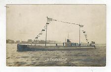 1916 Germany U Boat Submarine Deutschland in Flag Gala Feldpost Postcard Cover