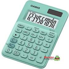 AUSSIE SELLER CASIO DESK CALCULATOR 8 DIGIT MS-7UC-GN GREEN COLOUR SOLAR+BATTERY