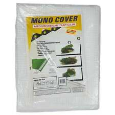 Clear Tarpaulin Reinforced 4M X 10M Rain Sheet Tarp Sheeting Cover 13ft x 33ft