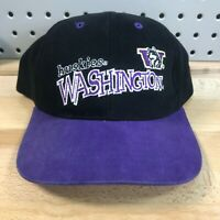 Vintage Washington Huskies NCAA College Hook & Loop Back Hat EUC Cap YOUTH