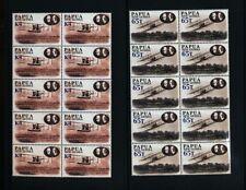 PAPUA 2003 Flight Aviation Blocks MNH (40 Stamps) PAP154