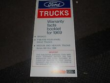 NOS 1969 FORD BRONCO F100 F250 TRUCKS WARRANTY FACTS OWNERS MANUAL SUPPLEMENT
