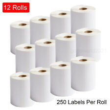 12 Rolls 4x6 250roll Direct Thermal Shipping Labels For Zebra Amp Rollo Printer