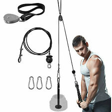 Pulley System Set Home Gym Fitness Triceps Workout Strength Training Weight UK